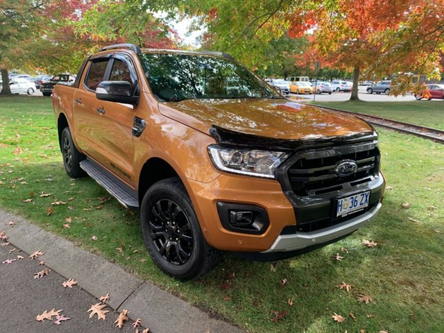 Used Ford Ranger PX MkIII 2019.00MY Wildtrak Launceston, 2019 Ford Ranger PX MkIII 2019.00MY Wildtrak Gold 10 Speed Sports Automatic Double Cab Pick Up
