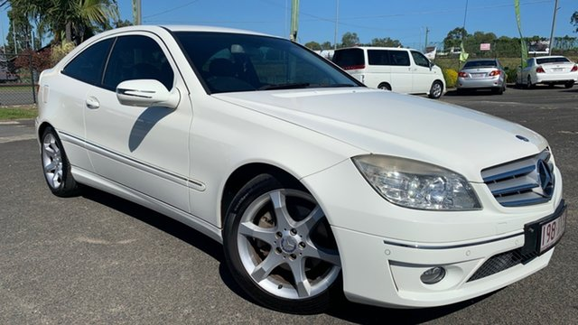 Used Mercedes-Benz CLC200 Kompressor 203 Evolution Loganholme, 2009 Mercedes-Benz CLC200 Kompressor 203 Evolution White 5 Speed Automatic Coupe