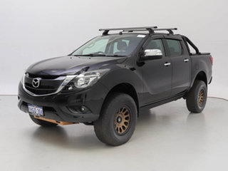 2018 Mazda BT-50 MY18 GT (4x4) Black 6 Speed Automatic Dual Cab Utility.