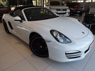 2013 Porsche Boxster 981 PDK White 7 Speed Sports Automatic Dual Clutch Convertible.