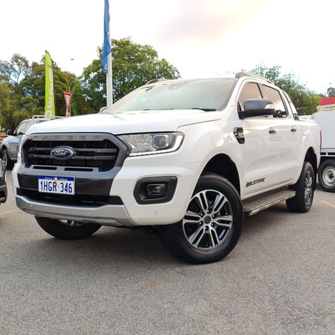 Used Ford Ranger PX MkIII 2020.25MY Wildtrak Midland, 2020 Ford Ranger PX MkIII 2020.25MY Wildtrak White 6 Speed Sports Automatic Double Cab Pick Up