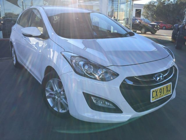 Used Hyundai i30 GD Elite Dubbo, 2013 Hyundai i30 GD Elite White 6 Speed Sports Automatic Hatchback