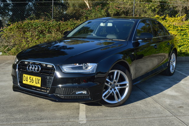 Used Audi A4 B8 8K MY15 S Line Multitronic Maitland, 2014 Audi A4 B8 8K MY15 S Line Multitronic Black 8 Speed Constant Variable Sedan