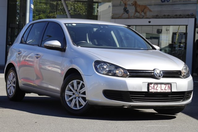 Used Volkswagen Golf VI 90TSI Trendline Mount Gravatt, 2009 Volkswagen Golf VI 90TSI Trendline Silver 6 Speed Manual Hatchback