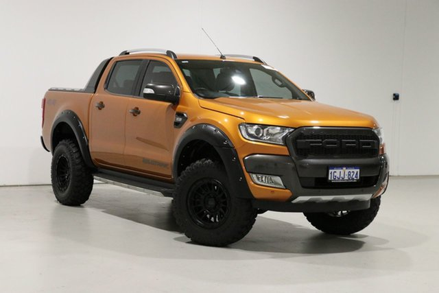 Used Ford Ranger PX MkII MY17 Wildtrak 3.2 (4x4) Bentley, 2017 Ford Ranger PX MkII MY17 Wildtrak 3.2 (4x4) Orange 6 Speed Automatic Dual Cab Pick-up