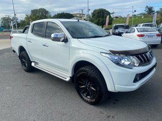 2017 Mitsubishi Triton MQ MY17 GLS Double Cab Sports Edition White Solid 5 Speed Sports Automatic.