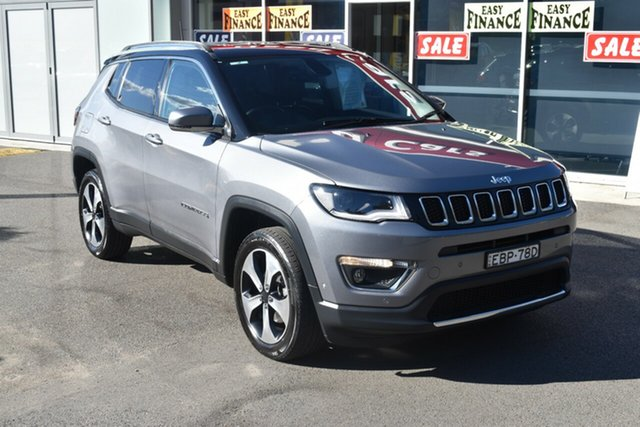 Used Jeep Compass M6 MY18 Limited Gosford, 2018 Jeep Compass M6 MY18 Limited Grey 9 Speed Automatic Wagon