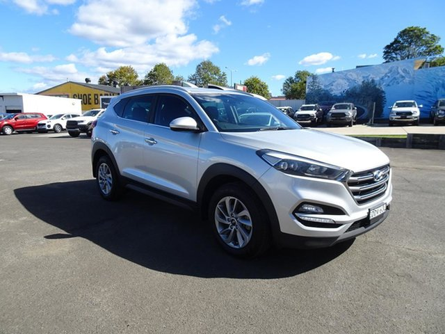 Used Hyundai Tucson TLE Elite D-CT AWD Nowra, 2015 Hyundai Tucson TLE Elite D-CT AWD Silver 7 Speed Automatic Wagon