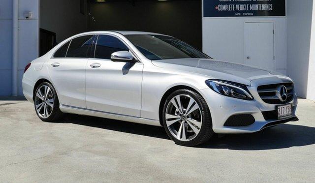 Used Mercedes-Benz C-Class W205 808MY C200 9G-Tronic Capalaba, 2018 Mercedes-Benz C-Class W205 808MY C200 9G-Tronic Silver 9 Speed Sports Automatic Sedan