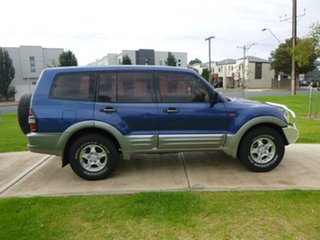 2000 Mitsubishi Pajero NM GLS Blue Manual Wagon.