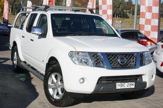 2013 Nissan Navara D40 S5 MY12 ST-X White 7 Speed Sports Automatic Utility.