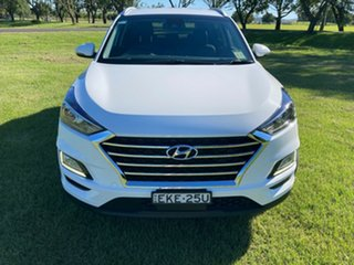 2020 Hyundai Tucson TL3 MY21 Elite D-CT AWD Pure White 7 Speed Sports Automatic Dual Clutch Wagon