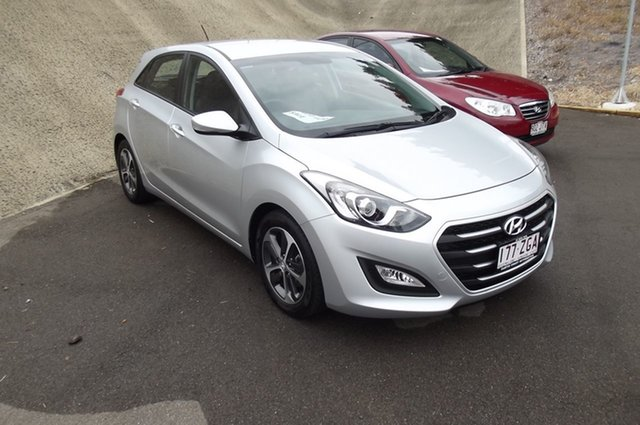 Used Hyundai i30 GD3 Series II MY16 Active X South Gladstone, 2015 Hyundai i30 GD3 Series II MY16 Active X Silver 6 Speed Manual Hatchback