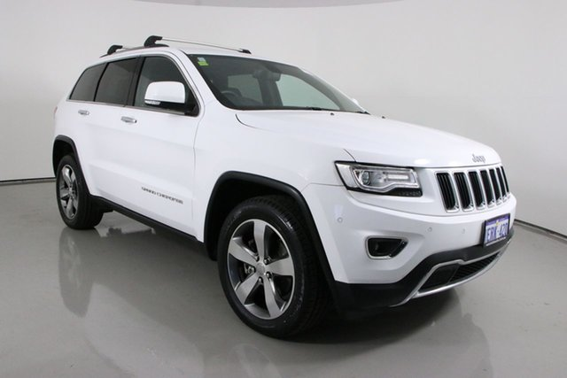 Used Jeep Grand Cherokee WK MY14 Limited (4x4) Bentley, 2014 Jeep Grand Cherokee WK MY14 Limited (4x4) White 8 Speed Automatic Wagon