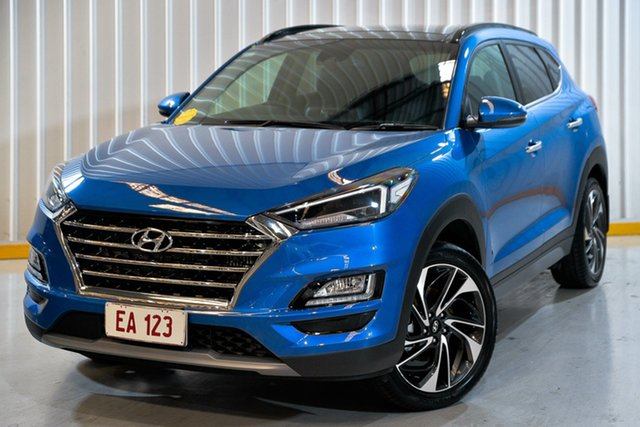 Used Hyundai Tucson TL3 MY19 Highlander D-CT AWD Hendra, 2019 Hyundai Tucson TL3 MY19 Highlander D-CT AWD Blue 7 Speed Sports Automatic Dual Clutch Wagon