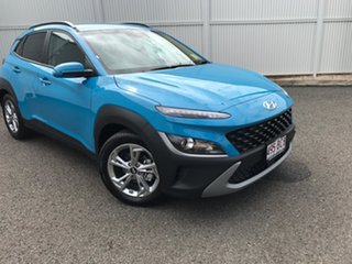 2020 Hyundai Kona Os.v4 MY21 Active 2WD Blue 8 Speed Constant Variable Wagon.