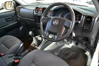 2011 Holden Colorado RC MY11 LX White 5 Speed Manual Cab Chassis.