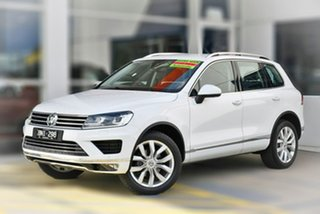 2017 Volkswagen Touareg 7P MY17 V6 TDI Tiptronic 4MOTION White 8 Speed Sports Automatic Wagon.
