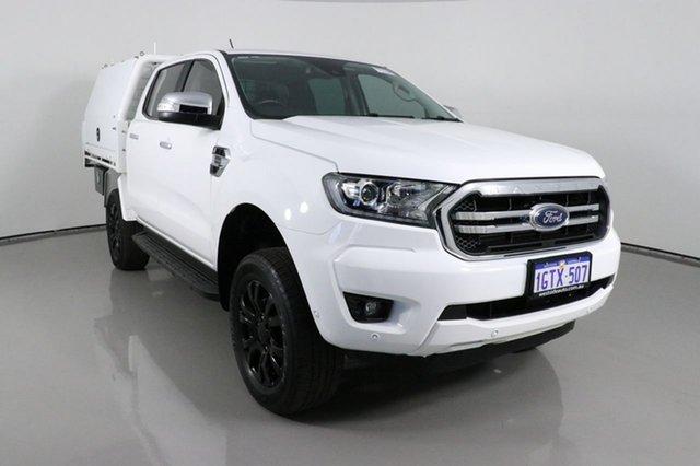 Used Ford Ranger PX MkIII MY19 XLT 3.2 (4x4) Bentley, 2019 Ford Ranger PX MkIII MY19 XLT 3.2 (4x4) White 6 Speed Automatic Double Cab Pick Up