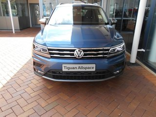 2020 Volkswagen Tiguan 5N MY21 110TSI Comfortline DSG 2WD Allspace Blue Silk Metallic 6 Speed.