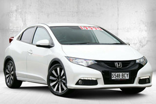2014 Honda Civic 9th Gen MY14 VTi-LN White Orchid 5 Speed Sports Automatic Hatchback.