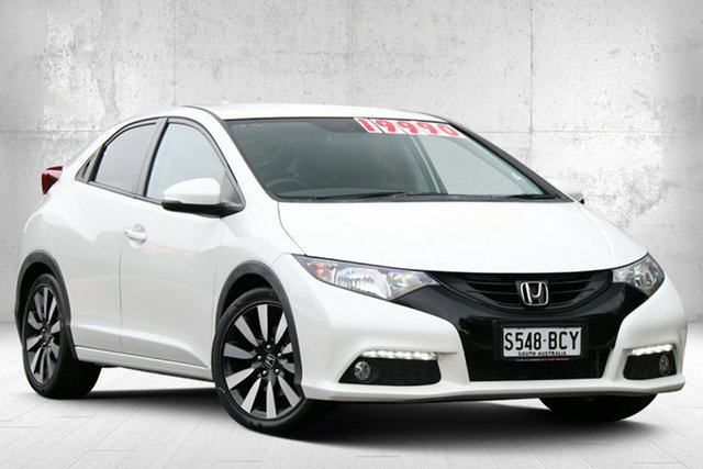 Used Honda Civic 9th Gen MY14 VTi-LN Valley View, 2014 Honda Civic 9th Gen MY14 VTi-LN White Orchid 5 Speed Sports Automatic Hatchback