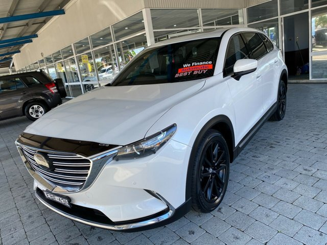 Used Mazda CX-9 GT Taree, 2019 Mazda CX-9 GT Snowflake White Pearl Sports Automatic Wagon