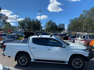 2018 Mitsubishi Triton MR MY19 GLS Double Cab Premium White 6 Speed Sports Automatic Utility