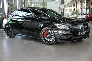 2017 Mercedes-Benz C-Class W205 808MY C63 AMG SPEEDSHIFT MCT S Black 7 Speed Sports Automatic Sedan.