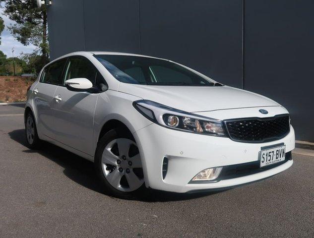 Used Kia Cerato YD MY18 S Reynella, 2018 Kia Cerato YD MY18 S White 6 Speed Sports Automatic Hatchback