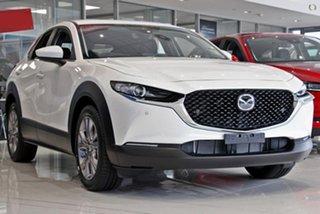 2021 Mazda CX-30 DM2W7A G20 SKYACTIV-Drive Evolve White 6 Speed Sports Automatic Wagon.
