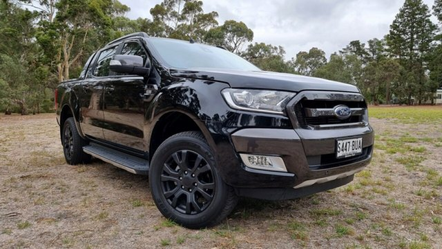 Used Ford Ranger PX MkII Wildtrak Double Cab Nuriootpa, 2017 Ford Ranger PX MkII Wildtrak Double Cab Black 6 Speed Sports Automatic Utility