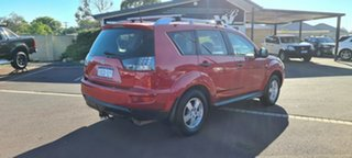 2009 Mitsubishi Outlander ZG MY09 LS Red 6 Speed Constant Variable Wagon