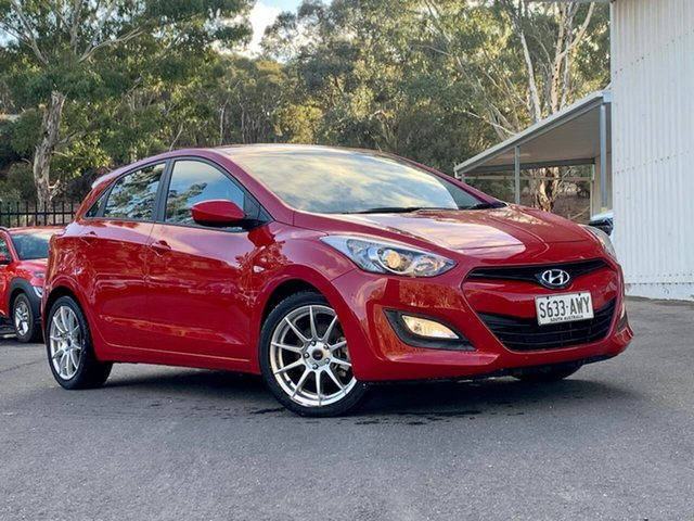 Used Hyundai i30 GD Active Clare, 2013 Hyundai i30 GD Active Red 6 Speed Manual Hatchback
