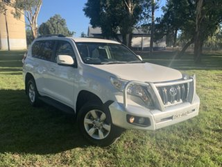 2016 Toyota Landcruiser Prado GDJ150R GXL White 6 Speed Sports Automatic Wagon.