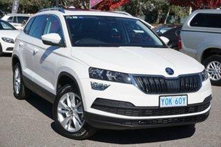 2020 Skoda Karoq NU MY20.5 110TSI FWD Candy White 8 Speed Automatic Wagon.
