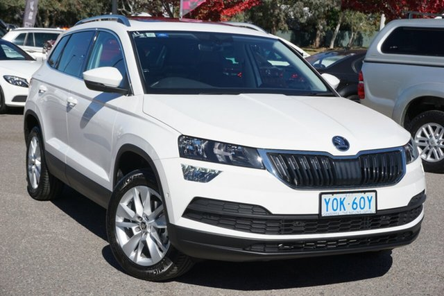 Used Skoda Karoq NU MY20.5 110TSI FWD Phillip, 2020 Skoda Karoq NU MY20.5 110TSI FWD Candy White 8 Speed Automatic Wagon