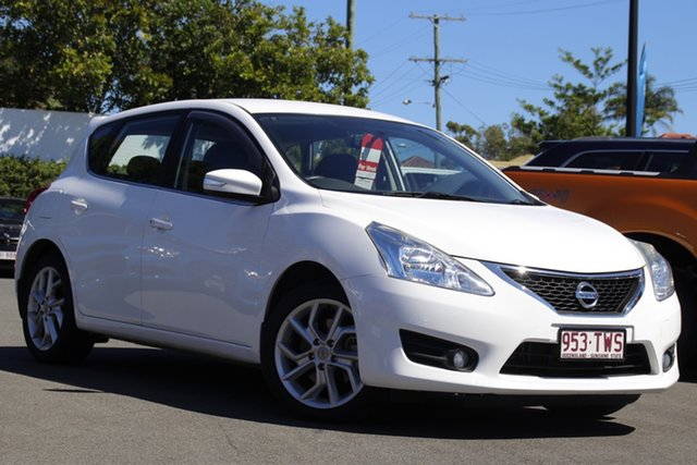Used Nissan Pulsar C12 ST-S Mount Gravatt, 2013 Nissan Pulsar C12 ST-S White 1 Speed Constant Variable Hatchback
