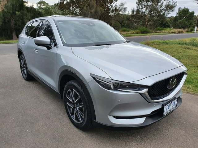 Used Mazda CX-5 Geelong, 2017 Mazda CX-5 KF Series Akera Silver Sports Automatic Wagon