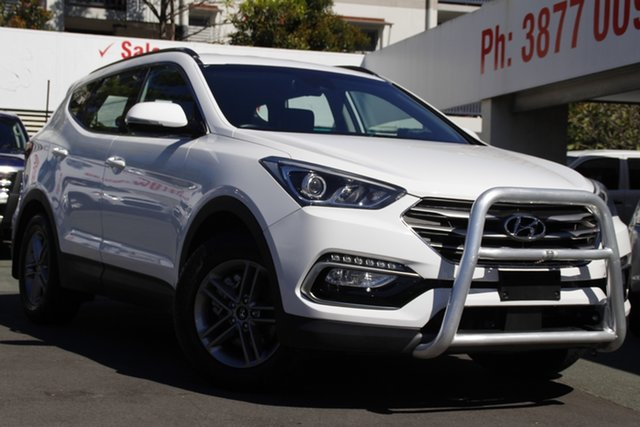 Used Hyundai Santa Fe DM4 MY18 Active Mount Gravatt, 2017 Hyundai Santa Fe DM4 MY18 Active White 6 Speed Sports Automatic Wagon