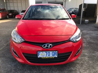 2012 Hyundai i20 PB MY12 Active Electric Red 4 Speed Automatic Hatchback