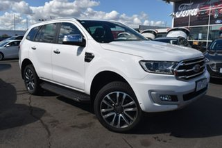 2020 Ford Everest UA II 2020.25MY Titanium White 10 Speed Sports Automatic SUV.