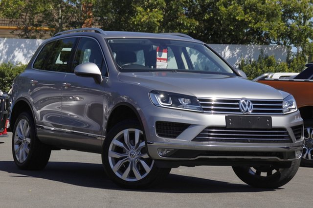 Used Volkswagen Touareg 7P MY16 V6 TDI Tiptronic 4MOTION Mount Gravatt, 2016 Volkswagen Touareg 7P MY16 V6 TDI Tiptronic 4MOTION Silver 8 Speed Sports Automatic Wagon