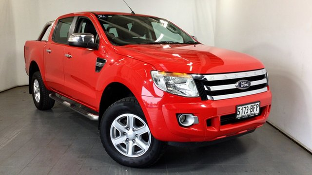 Used Ford Ranger PX XLT Double Cab Elizabeth, 2014 Ford Ranger PX XLT Double Cab Red 6 Speed Sports Automatic Utility