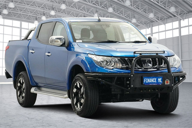 Used Mitsubishi Triton MQ MY17 Exceed Double Cab Victoria Park, 2017 Mitsubishi Triton MQ MY17 Exceed Double Cab Blue 5 Speed Sports Automatic Utility