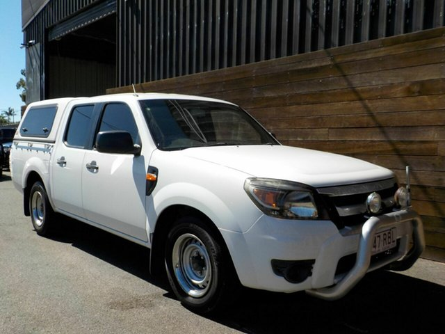 Used Ford Ranger PK XL Crew Cab 4x2 Labrador, 2010 Ford Ranger PK XL Crew Cab 4x2 White 5 Speed Automatic Utility