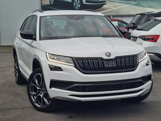 2020 Skoda Kodiaq NS MY20.5 RS DSG White 7 Speed Sports Automatic Dual Clutch Wagon.