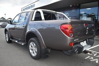 2011 Mitsubishi Triton MN MY11 GLX-R Double Cab Brown 5 Speed Manual Utility.
