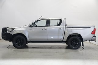2016 Toyota Hilux GUN126R SR Double Cab Silver 6 Speed Sports Automatic Utility.