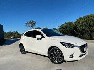 2017 Mazda 2 DJ2HA6 Genki SKYACTIV-MT White 6 Speed Manual Hatchback.